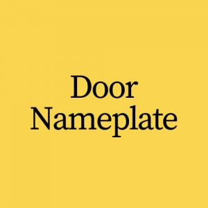 Door Nameplate